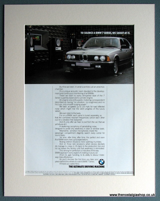 BMW 7 Series 1985 Original Advert (ref AD1645)