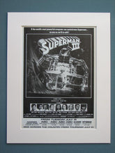 Load image into Gallery viewer, Superman I II & III set of 3 Original adverts (ref AD641)