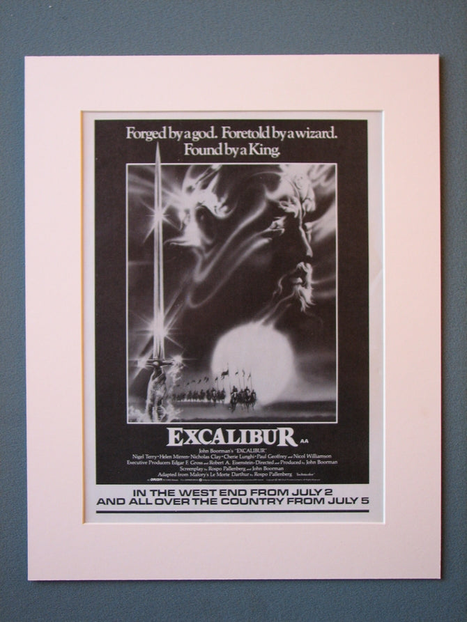 Excalibur 1981 Original advert (ref AD474)