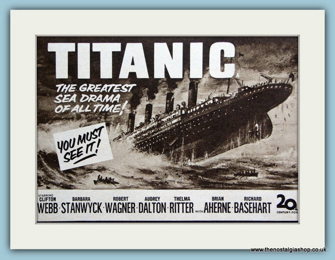 Titanic starring Clifton Webb, 1953 Original Advert (ref AD3216)