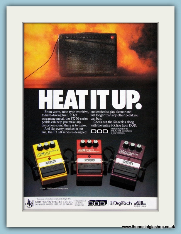 DOD Digitech Pedal Original Advert 1989 (ref AD2736)