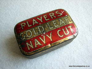 Players Gold Leaf Navy Cut Tin. (ref Nos028)