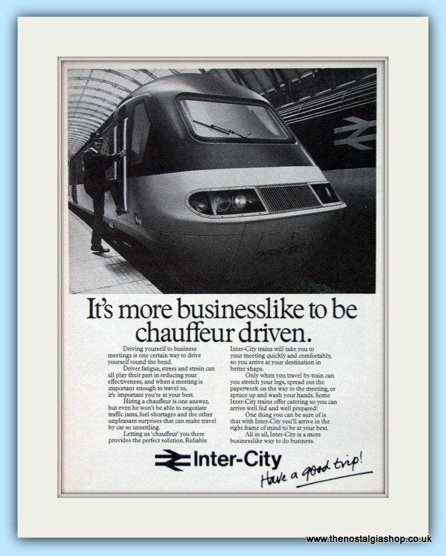 Inter-City Business Travel 1973 & 1979 Set Of 3 Original Adverts (ref AD6551)