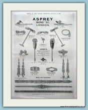 Load image into Gallery viewer, Asprey Bond Street Jewellers Set Of 2 Original Adverts 1927 (ref AD6260)