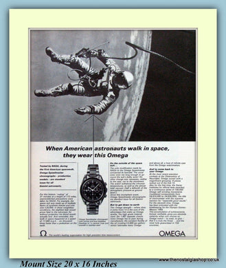 Omega Speedmaster Watch Original Advert 1966 (ref AD9381)