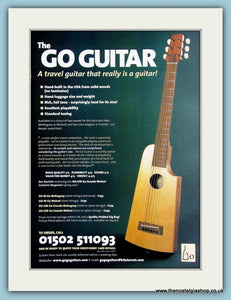 Go Guitar Travel Guitar Original Advert 1990 (ref AD2341)