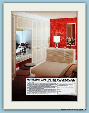 Adam Fitted Bedroom Furniture. Original Advert 1977 (ref AD2405)