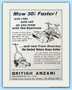 Easimow & Easicut Mowers. Original Advert 1960 (ref AD4653)