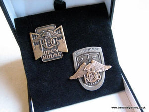 Harley Davidson HOG Set of 2 badges Boxed.