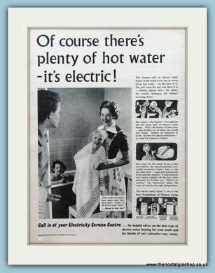 Electricity in the Home. Original Advert 1955 (ref AD4306)