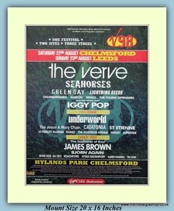 V98 Festival August 1998 Chelmsford Original Advert (ref AD9022)