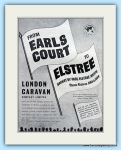 London Caravan At Earls Court Original Advert 1952 (ref AD6366)