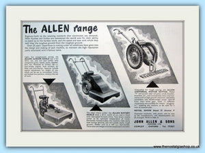 Allen Scythes and Sickles. Original Advert 1960 (ref AD4638)