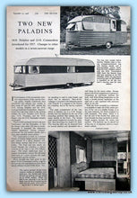 Load image into Gallery viewer, Paladin Dolphin & Commodore Caravan Original Test Report 1956 (ref AD6375)