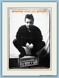 Orange Amps with James Dean Bradfield. Original Advert 1999 (ref AD2226)