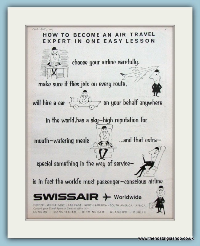 Swissair Original Advert 1963 (ref AD2158)