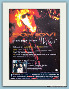 Bon Jovi Hey God 1995 Original Advert (ref AD3263)