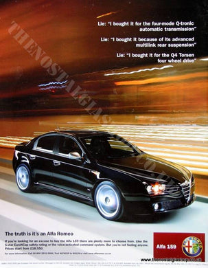 Alfa 159 from Alfa Romeo. Original advert 2007 (ref AD1428)