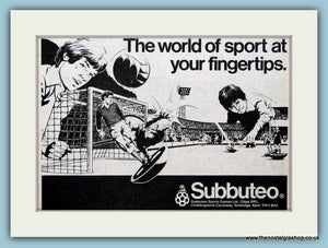 Subbuteo Football Game Original Advert 1980 (ref AD6388)
