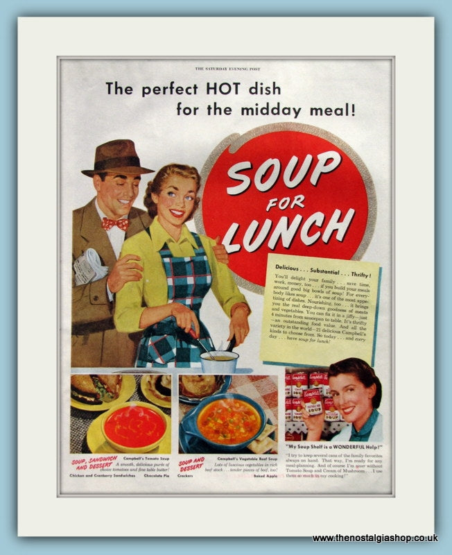 Soup For Lunch. Original Advert 1951 (ref AD8286)
