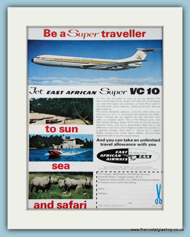 East African Airlines. 1967 Original Advert. (ref AD2112)