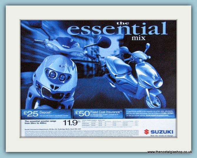Suzuki Scooter Insurance Original Advert 1999 (ref AD4185)