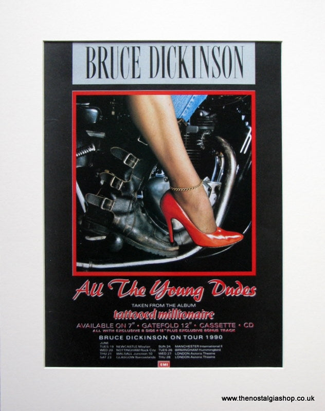 Bruce Dickinson All The Young Dudes Original Advert 1990 (ref AD907)