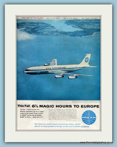 Pan Am Airline Original Advert 1958 (ref AD8247)