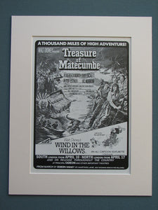 Treasure Of Matecumbe Original Advert 1977 (ref AD668)