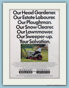 Howard Bolens Motor Mower. Original Advert 1972 (ref AD4609)