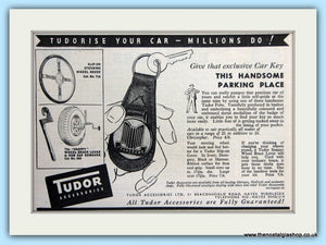 Tudor Car Accessories Key Fobs Original Advert 1955 (ref AD5068)
