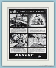 Load image into Gallery viewer, Dunlop Industrial Latex & Fabrics Set Of 4 1963 Cartoon Original Adverts (ref AD2875)