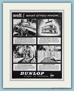Dunlop Industrial Latex & Fabrics Set Of 4 1963 Cartoon Original Adverts (ref AD2875)