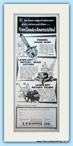 E. P. Barrus Ltd  Mowers. Original Advert 1961 (ref AD4658)