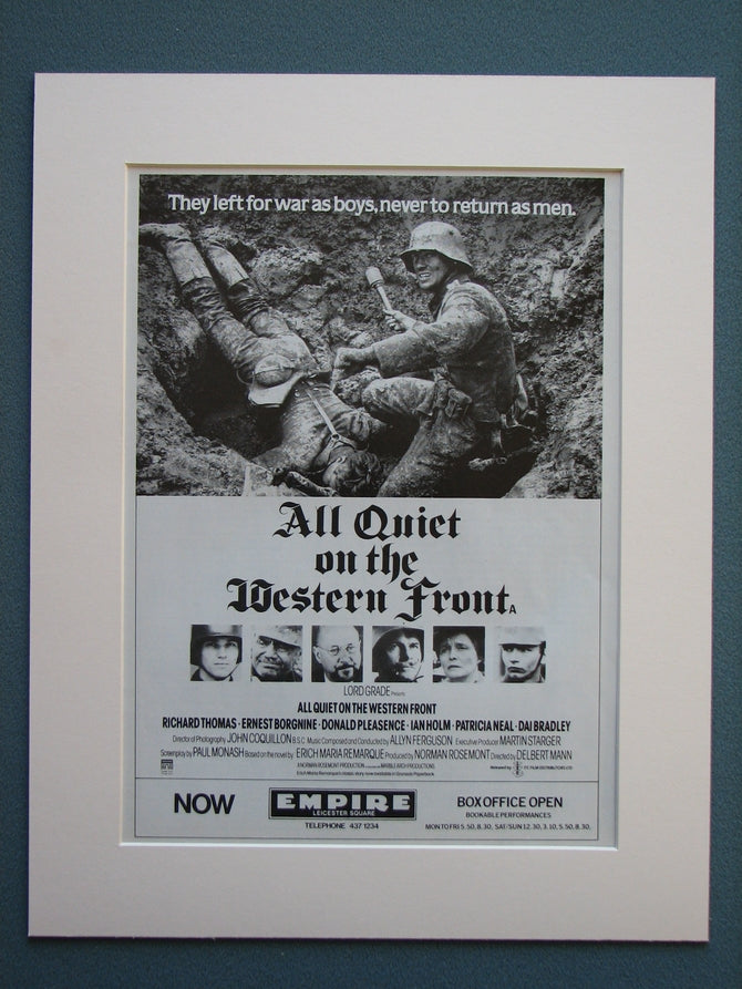 All Quiet On The Western Front 1980 Original advert (ref AD735)