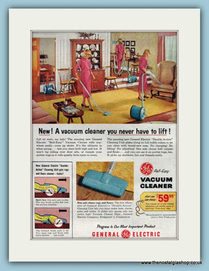 General Electric Vacuum Cleaner 1957 (ref AD8243)