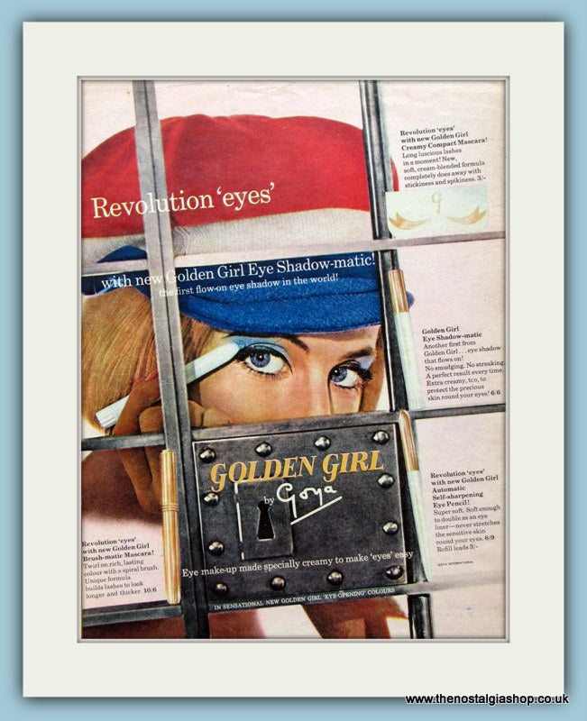Goya Golden Girl Eye Shadow Original Advert 1964 (ref AD4496)