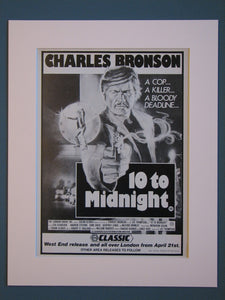 10 To Midnight. Charles Bronson Original advert 1983 (ref AD398)