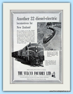 Diesel Electric  Locomotives By The Vulcan Foundry Original Advert 1957 (ref AD6498)