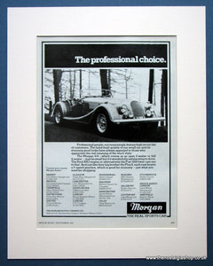 Morgan 4/4 Sports Car 1983 Original Advert (ref AD1434)