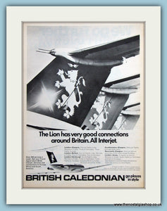 British Caledonian Airline Original Advert 1972 (ref AD2177)