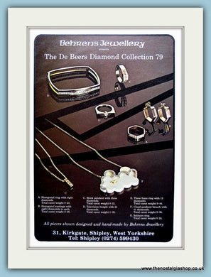 Behrens Jewellery Diamond Collection Original Advert 1978 (ref AD6253)