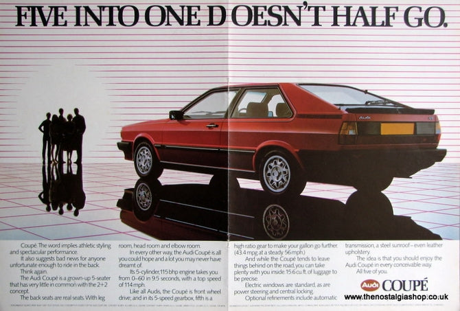 Audi Coupe 1982 Original Advert (ref AD1706)