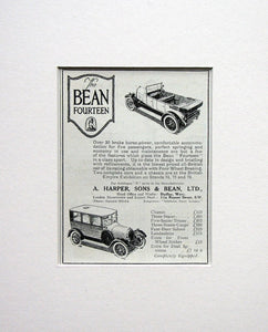 Bean Fourteen Motor Car. Original advert 1924 ( ref AD1566)
