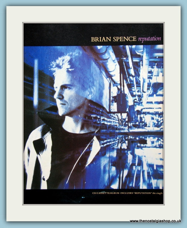 Brian Spence Reputation 1988 Original Advert (ref AD3316)
