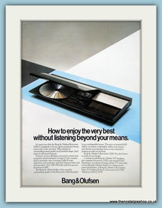 Bang & Olufsen Beocenter 2200 Original Advert 1984 (ref AD3874)