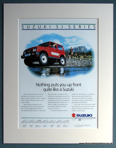 Suzuki SJ Series Set Of 2 Original Adverts 1988 (ref AD1729)