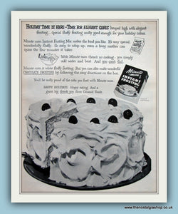 Minute Man Instant Frosting Mix. Original Advert 1955 (ref AD8156)