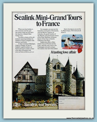 Sealink Car Ferries Original Advert 1973 (ref AD2307)