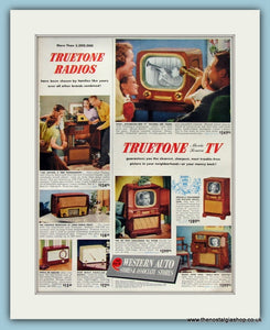 Truetone Radios & TV Original Advert 1951 (ref AD8322)